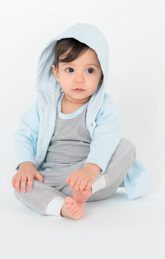 Baby Clothes - Reversible 2 Blue Hoodies in 1