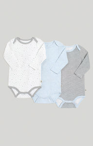 Baby Clothes | 3 Pack of Long Sleeve Baby Bodysuits