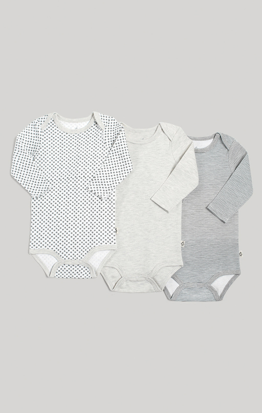 Baby Clothes - 3 Pack Neutral Long Sleeve Baby Bodysuits