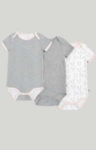 Baby Clothes | 3 Pk of Short Sleeve Baby Bodysuits