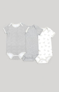 Baby Clothes | 3 Pk Neutral Short Sleeve Baby Bodysuits