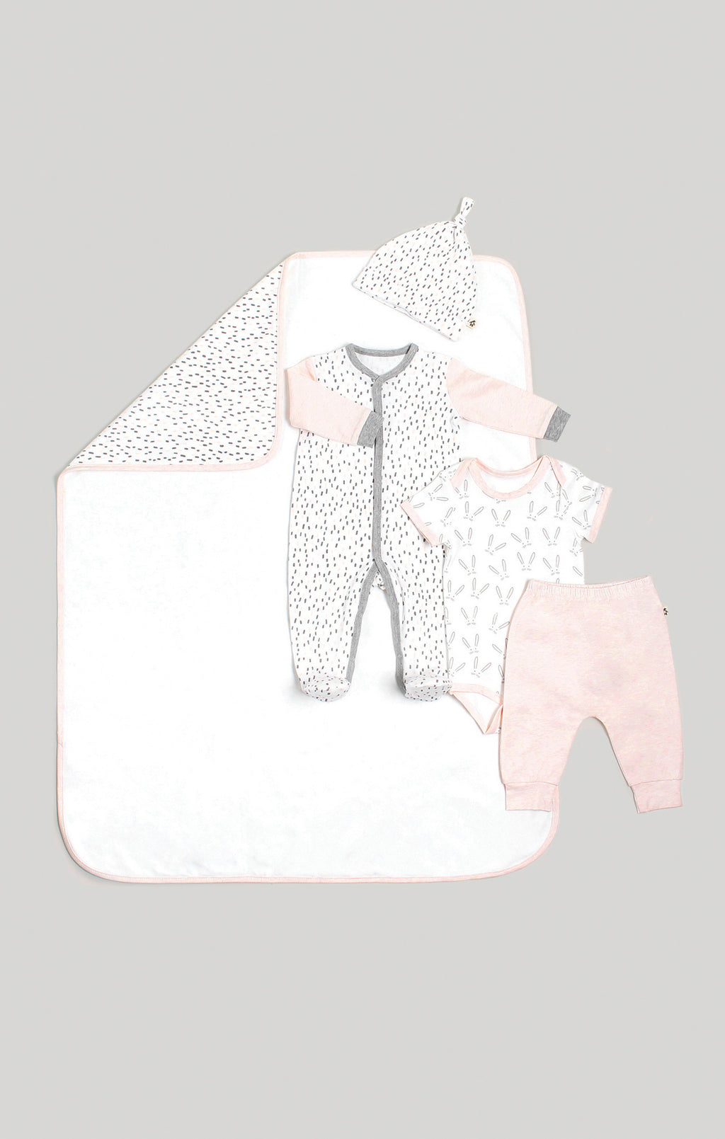 Baby Clothes | 5 Piece Set - Blanket, Sleeper, Beanie, Bodysuit & Pants