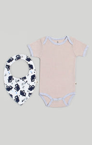 Baby Clothes - Wild Bear Bib & Baby Bodysuit Set