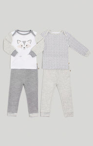 Baby Clothes - Neutral 2 Piece Pajama Set 2 Pack