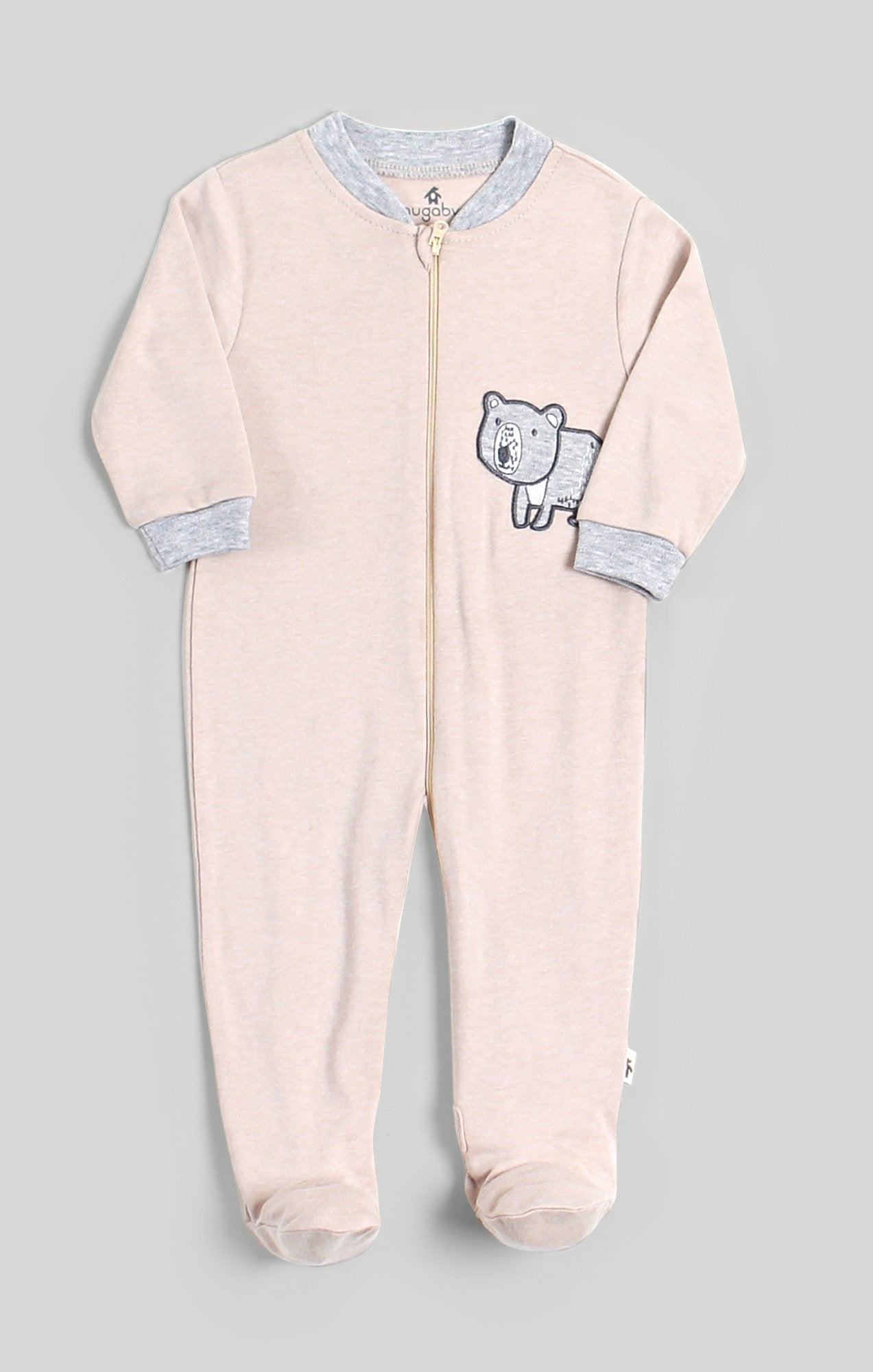 Baby Clothes | Pink & Grey Bear Sleeper
