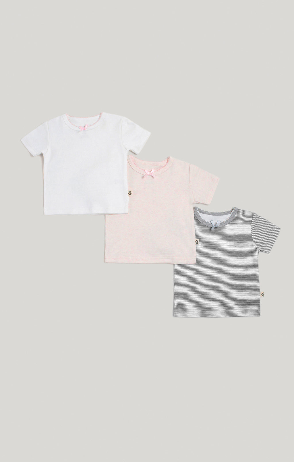 Baby Clothes - Baby Girl 3 Pack of Short Sleeve T-Shirts