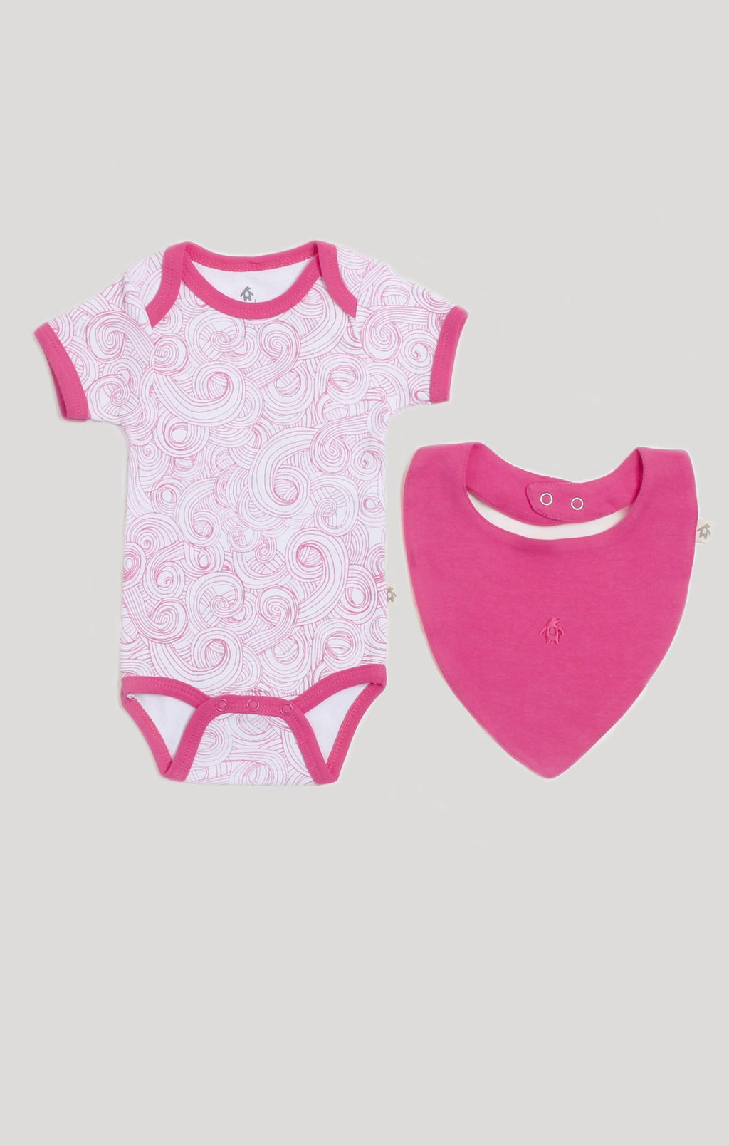Pink Swirls Body Suit & Bib Set