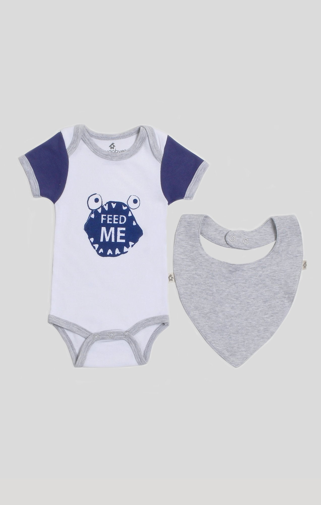 "Baby Clothes | ""Feed Me"" Bib & Baby Bodysuit Set"
