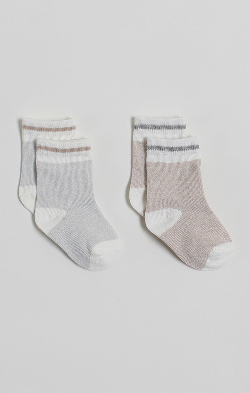 Socks - 2 Pk Gray & Cream Boot Socks | Accessories