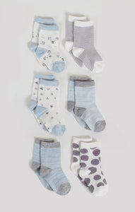 Socks - 6 Pk Baby Boy Crew Socks | Baby Accessories