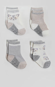 Socks - 4 Pk of Neutral Baby Crew Socks | Accessories