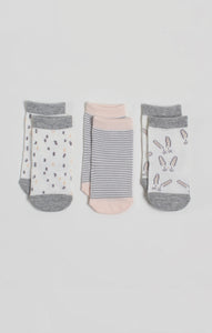 Socks - 3 Pk of Baby Girl Crew Socks | Baby Accessories