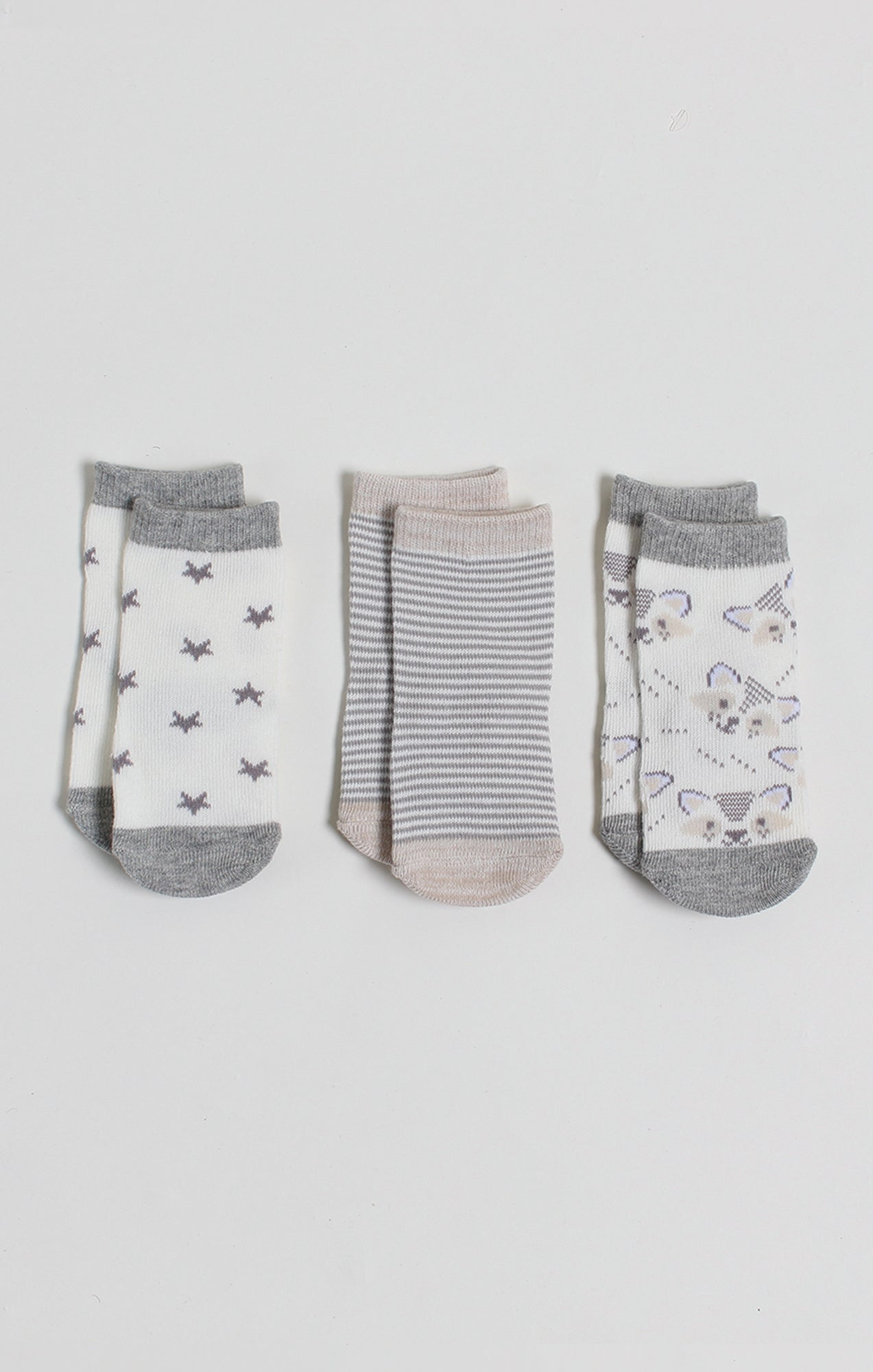 Socks - 3 Pk Neutral Baby Crew Socks | Baby Accessories