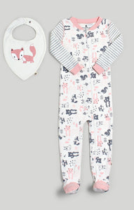 Woodland Sleeper & Bib Set