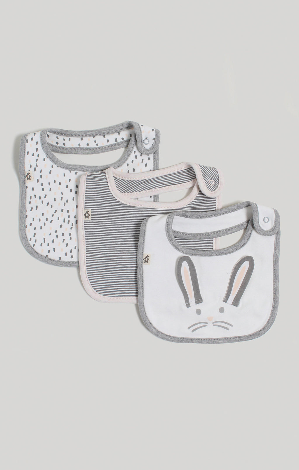 Bib - Baby Girl 3 Pack of Dribble Bibs | Baby Accessories