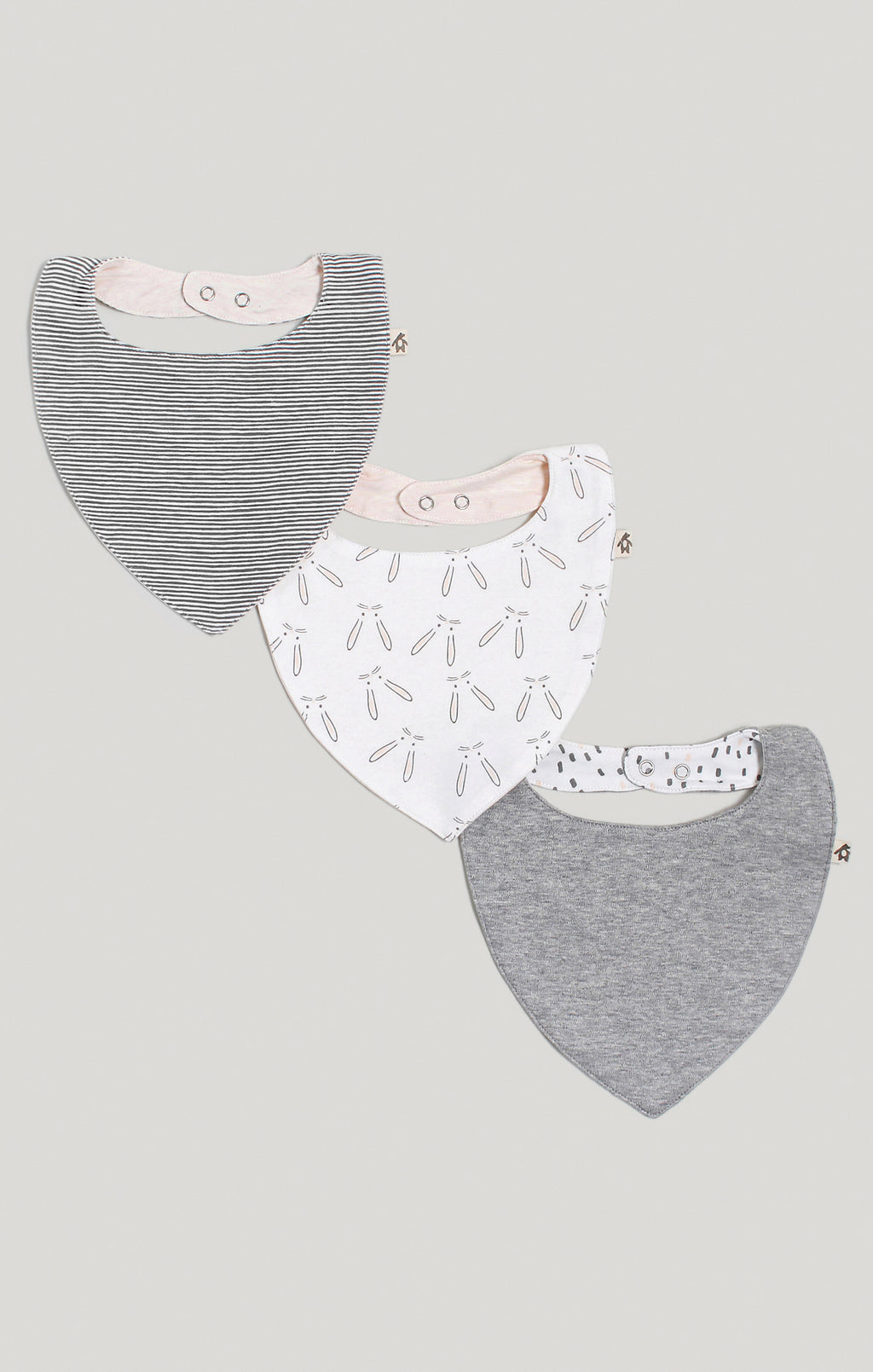 Bib - 3 Pk of Baby Girl Reversible Bibs | Baby Accessories