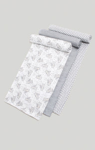 3 Muslin Swaddles - Raccoon, Stripe & Star Swaddles | Baby Accessories