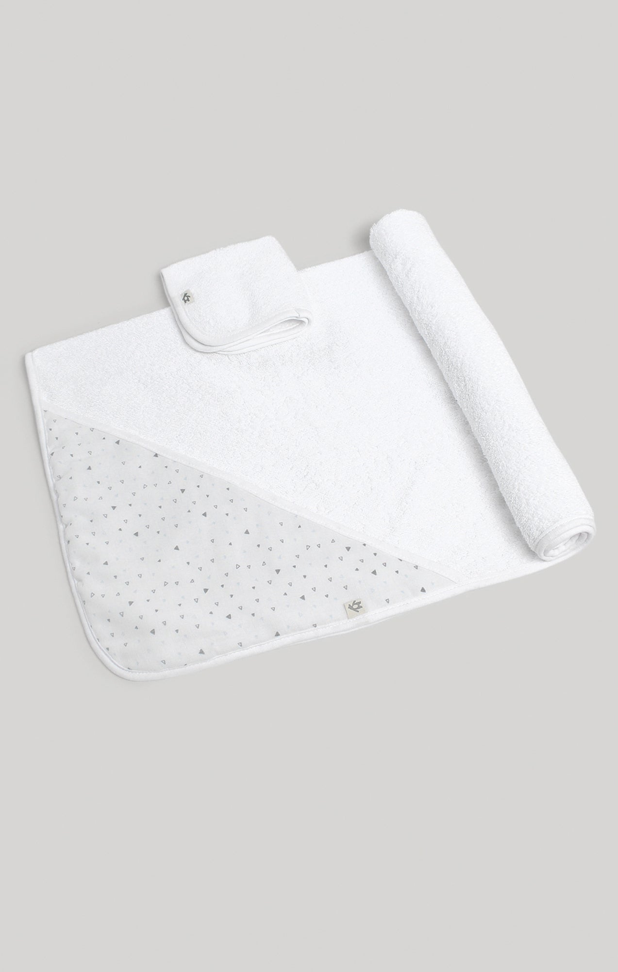 Towel Set - Triangle Hooded Towel & Terry Wash Cloth Set | Baby Accessories