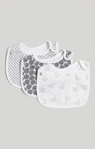 Bib - 3 Pk of Baby Neutral Muslin Bibs | Baby Accessories
