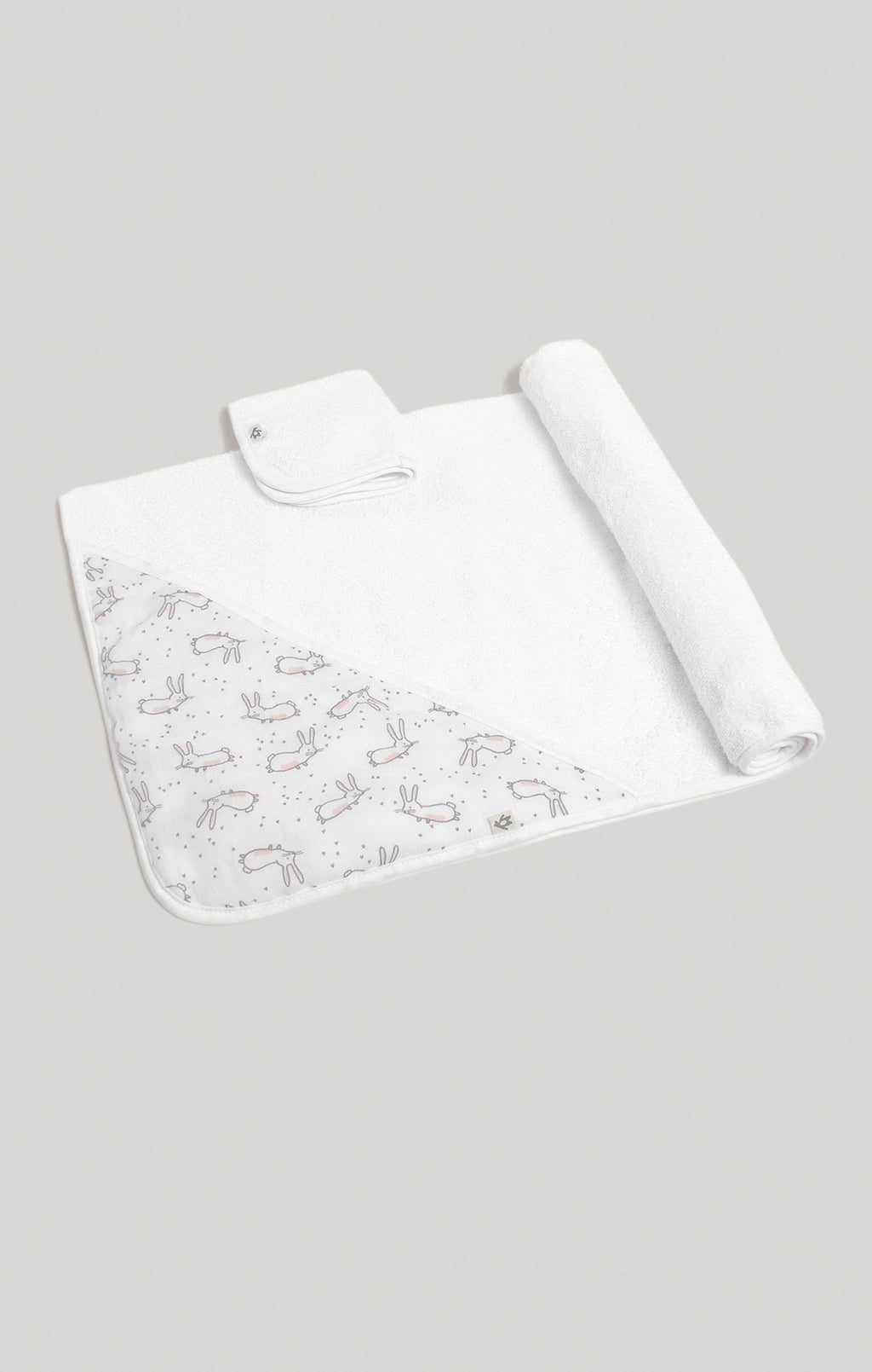 Towel Set - Bunny Hooded Towel & Wash Cloth Set | Baby Accessories