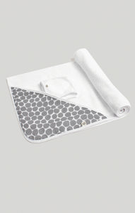 Towel Set - Spot Hooded Towel & Wash Cloth Set | Baby Accessories