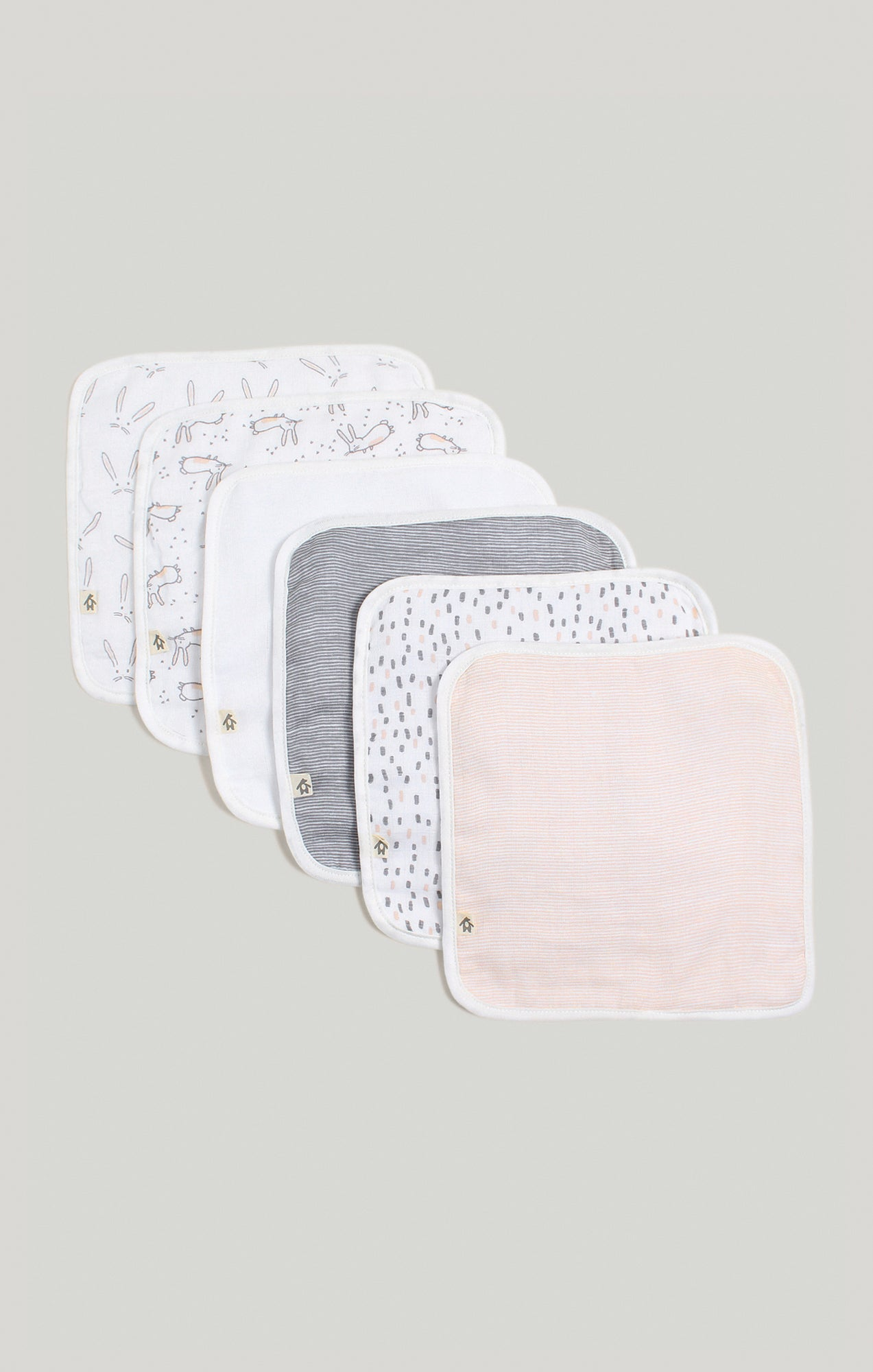 Baby Accessories - 6 Pk of Baby Girl Wash Cloths