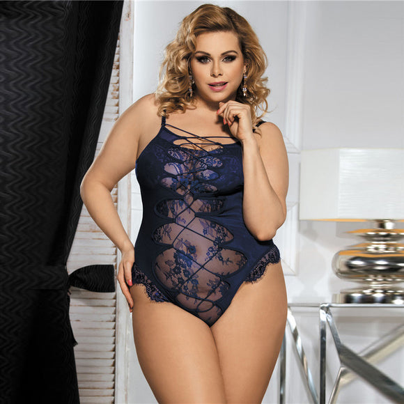 R80327 New Arrival Blue Teddy Lingerie Bodysuit Body Lingerie Sexy Hot Erotic High Quality Woman Lace Transparent Sexy Bodysuit - Relax Me