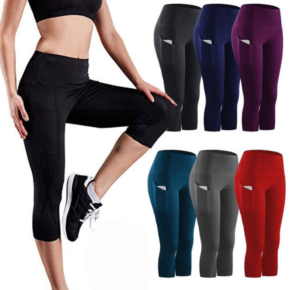 Women's Yoga Pants Running Workout Stretch Yoga Leggings w/Pocket - Relax Me