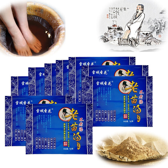 Spa-100pcs/set Natural Herb Foot Bath Pack Chinese Medicine Foot SPA Bubble Powder - Relax Me