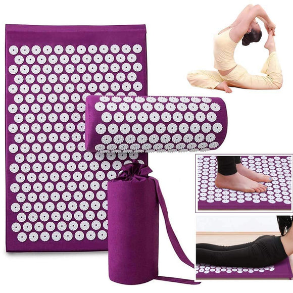 Lotus Acupuncture Massager Cushion Relieve Stress Back Pain Acupressure Mat Pillow Massage Yoga Spike Mat For Body Relaxation - Relax Me