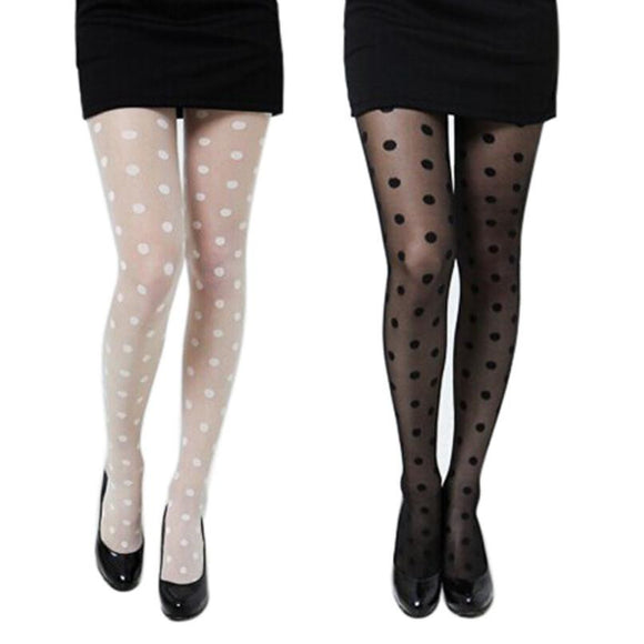 Sexy stockings 2017 Women Sexy Sheer Lace Big Dot Pantyhose Stockings Tights Dots Black White - Relax Me