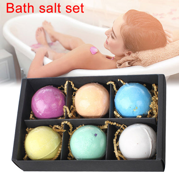 6pcs Bath Salt Bombs Ball Soap Skin Care SPA Whitening Moisture Relaxation Gift - Relax Me