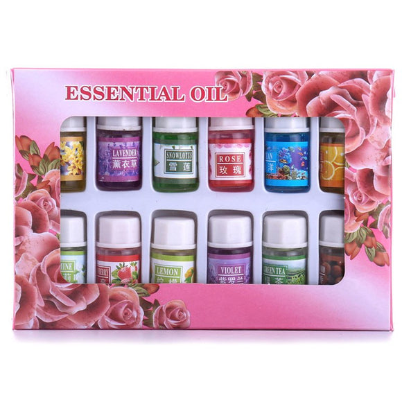 12 Aromatherapy Essential Oil Flavors Body Spa Humidifier Oils Set - Relax Me