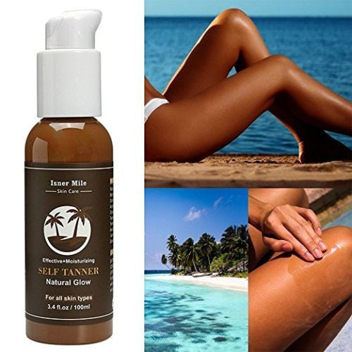Self Tanner Sunless Tanning Enhance Lotion 3.4 fl.oz Body Bronze for Body / Face to Dark - Relax Me