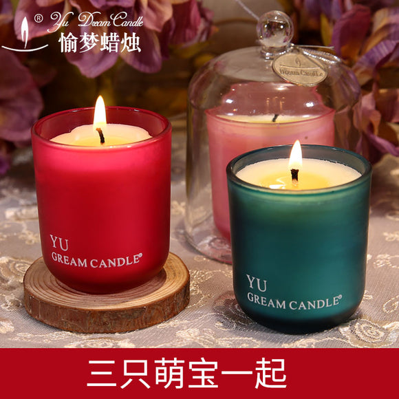 Romantic Flames Soy Smokeless Candles - Relax Me