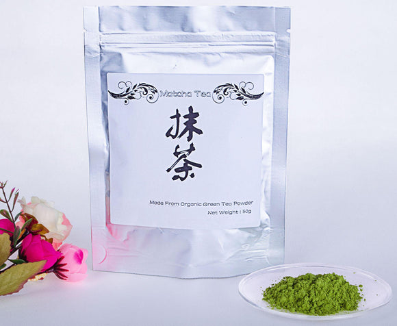 50g/lot China 100% Pure Organic Natural Matcha Green Tea Powder Bag - Relax Me