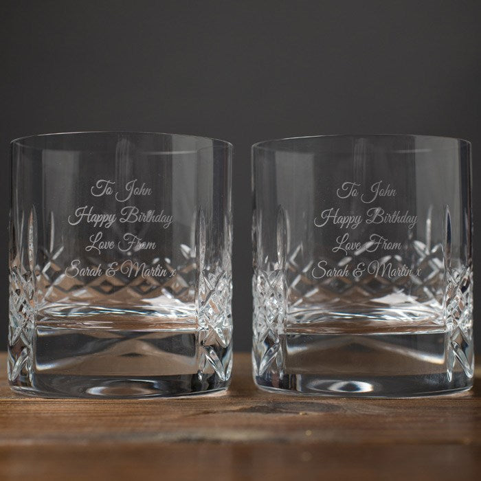 Cut Crystal Whisky Tumblers