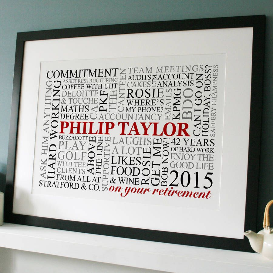Personalized Retirement Word Art