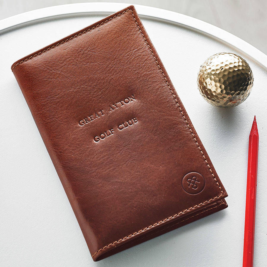 Personalized Leather Golf Card Holder