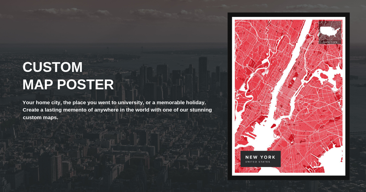 🗺️ Create your own maps | custom map posters | Maps of the World