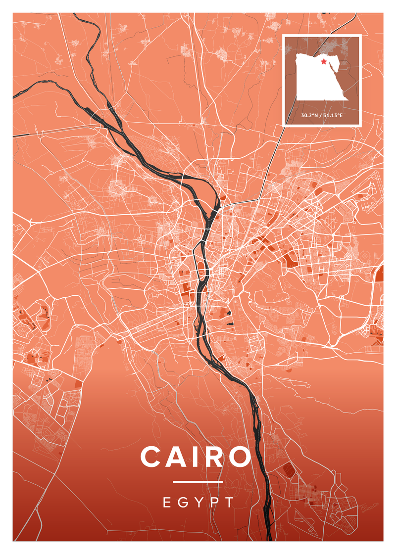 Cairo Map Poster