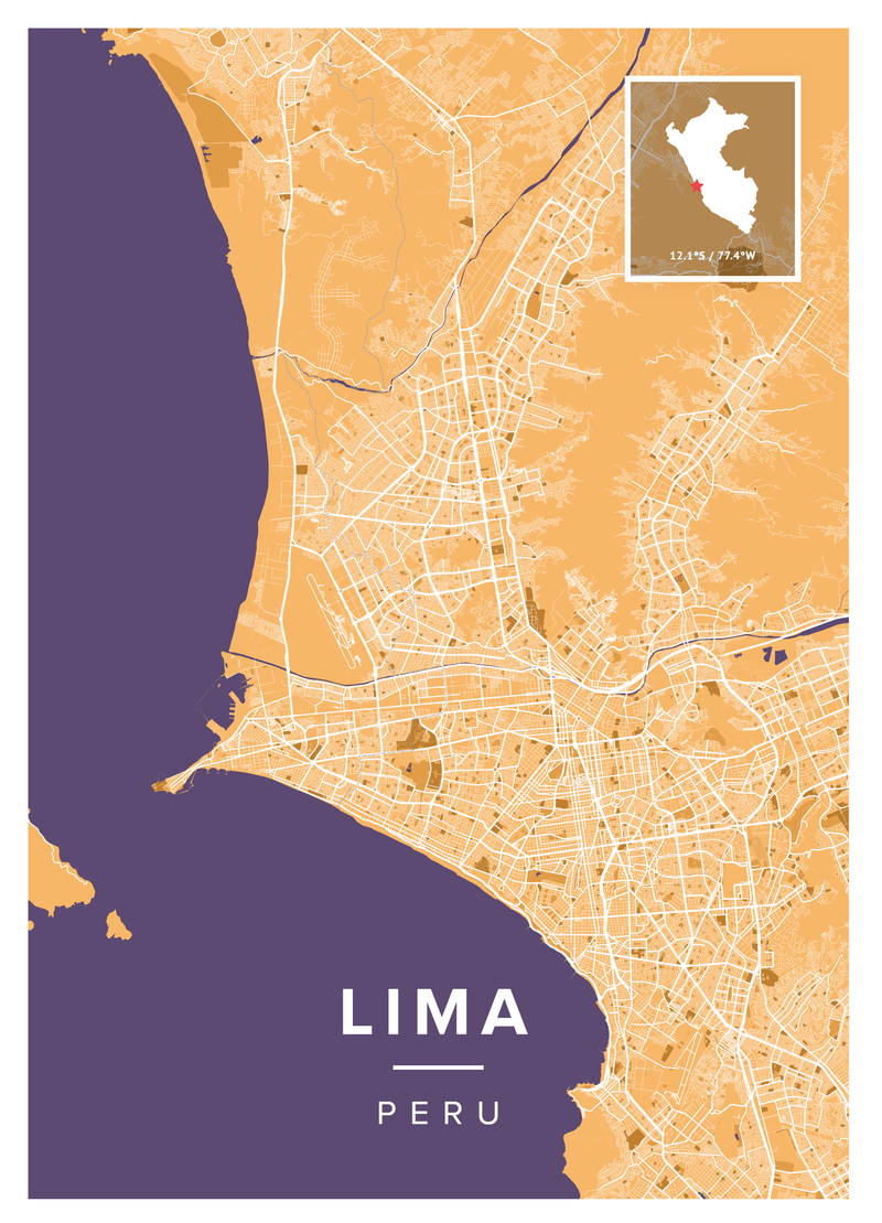 Lima Map Poster