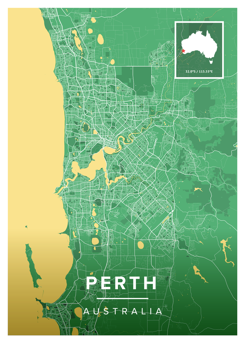 Perth Map Poster