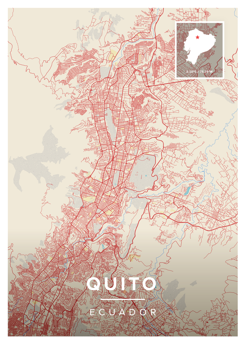 Quito Map Poster