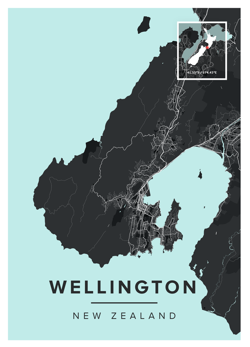 Wellington Map Poster