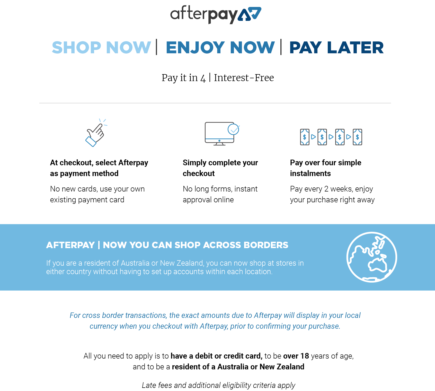 afterpay at bella scoop