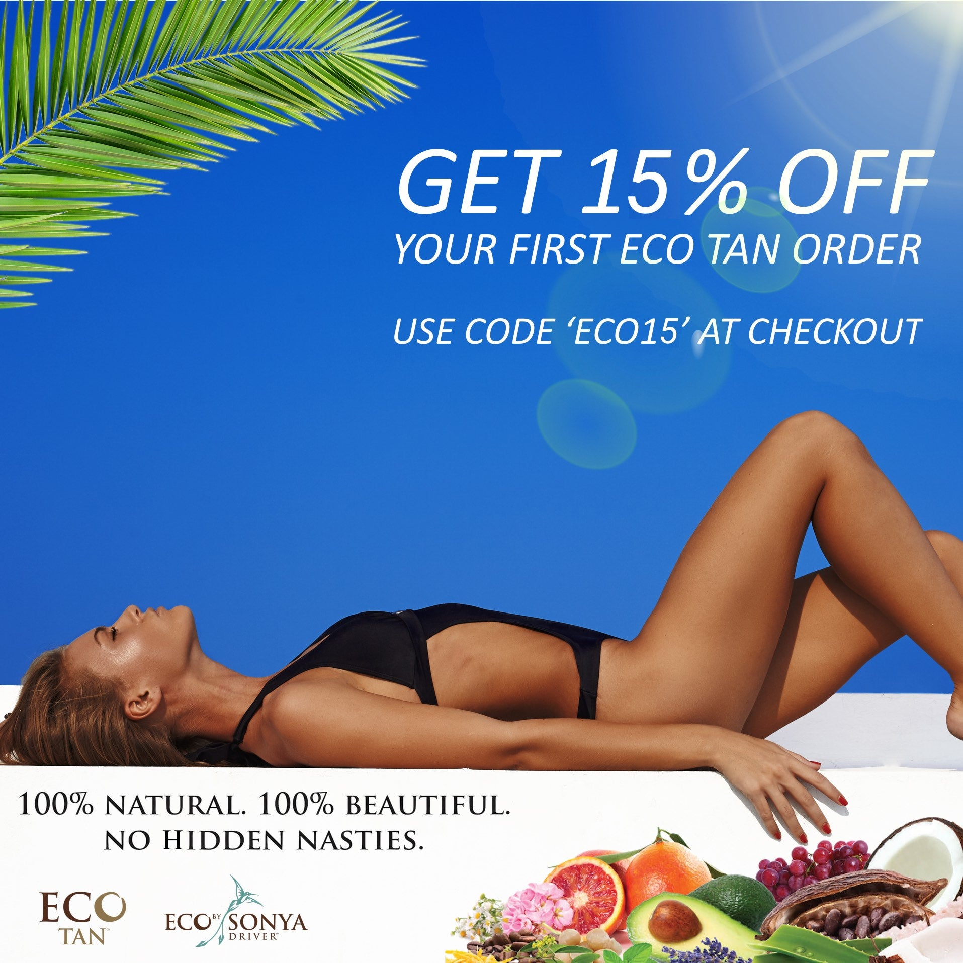 eco tan first order 10% off bella scoop
