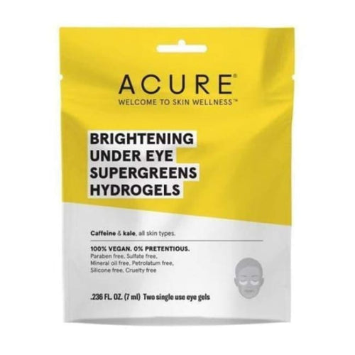Acure Brightening Under Eye Supergreens Hydrogels - Mask