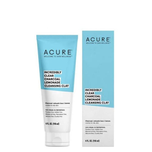 Acure Incredibly Clear Charcoal Lemonade Cleansing Clay - Cleanser
