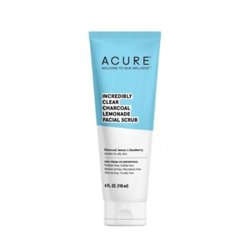 Acure Incredibly Clear Charcoal Lemonade Facial Scrub - Scrub